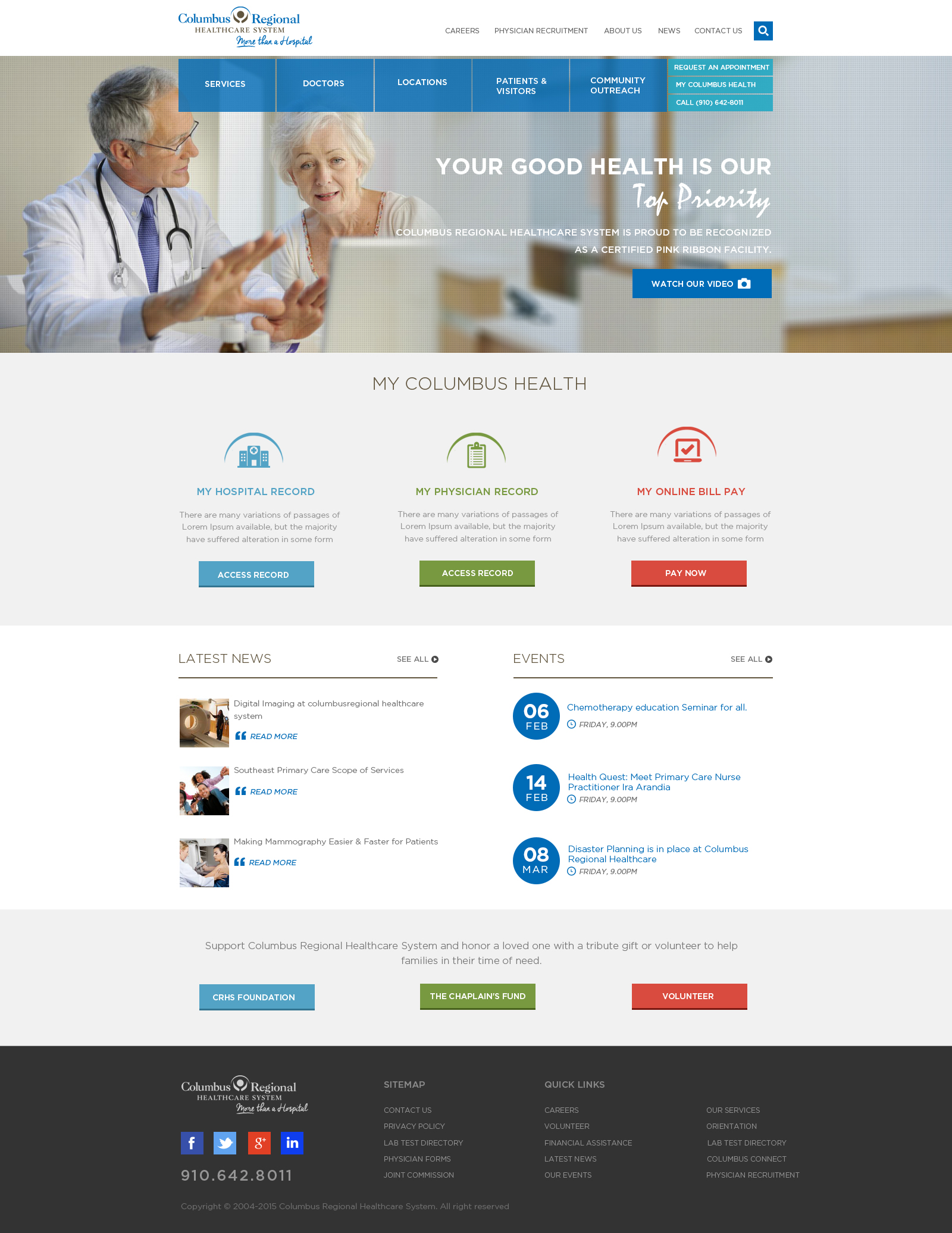 columbus-regional-healthcare-system-website-home-page